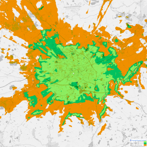 DAB coverage map